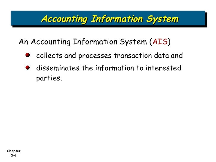 accounting information system ais essay Accounting information systems (ais) is a discipline that informs theory and practice in accounting and auditing  research papers by academics and practitioners.