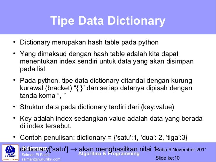 Bab3 tipe data control for Data dictionary
