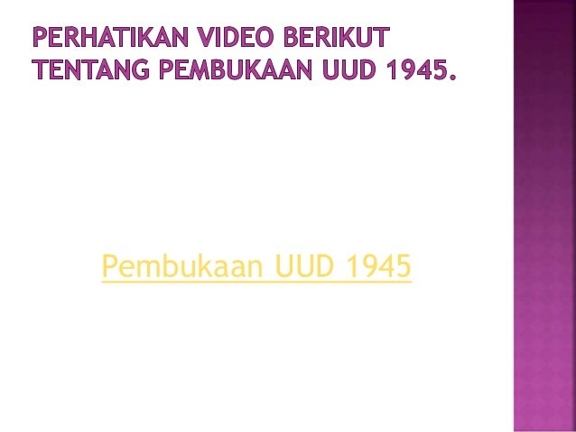 Bab 3 perumusan dan pengesahan uud negara republik indonesi