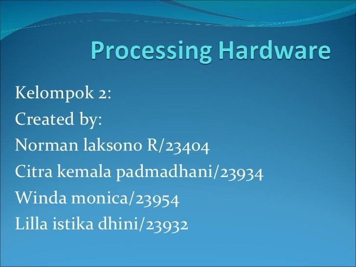 Kelompok 2: Created by: Norman laksono R/23404 Citra kemala padmadhani/23934 Winda monica/23954 Lilla istika dhini/23932