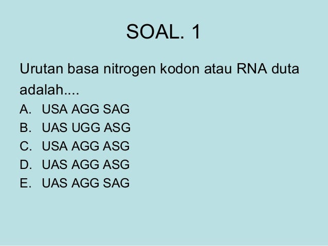 Bab 3 sintesis protein soal ccuart Image collections