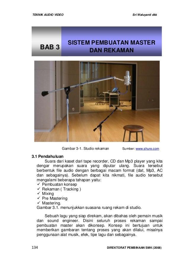 TEKNIK AUDIO VIDEO Sri Waluyanti dkk134 DIREKTORAT PEMBINAAN SMK (2008)3.1 PendahuluanSuara dari kaset dari tape recorder,...