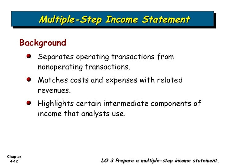 Bab 4 Income Statement and Related Information