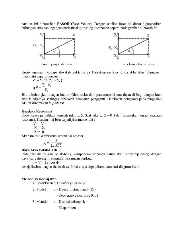 Bab 4 listrik arus bolak balik ac 4 analisa ini dinamakan fasor ccuart Image collections