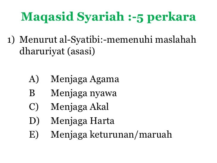 concept of maqasid al syariah Uum online: a model based on the concept of maqasid al-shariah corporation can be applied as an alternative approach to transform and develop the local communityvarious economic, social, educational, political, spiritual, psychological and social activities can be structured for youth, teens, adults and also the elderly.