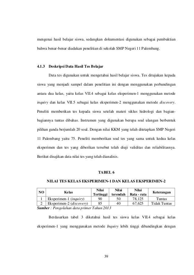 Contoh Soal Dan Materi Pelajaran 2 Contoh Tesis Bab 4 Kuantitatif