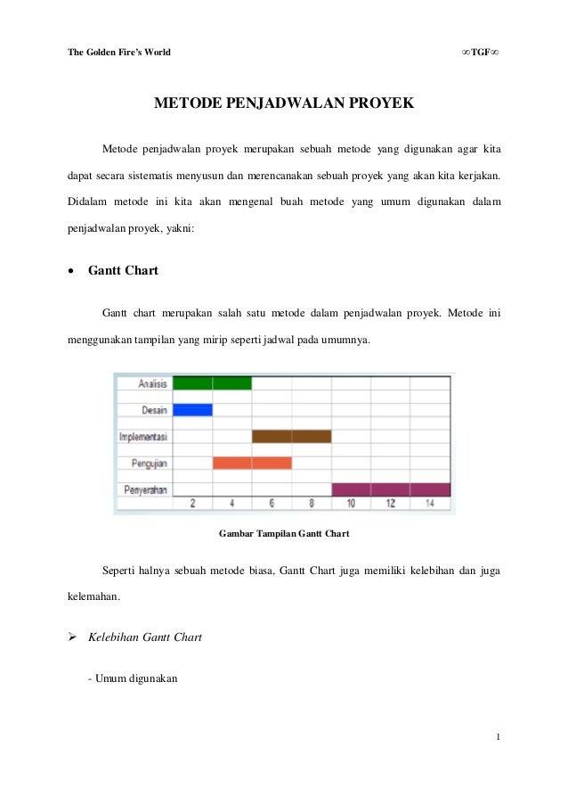 Bab 4 Metode Penjadwalan Proyek