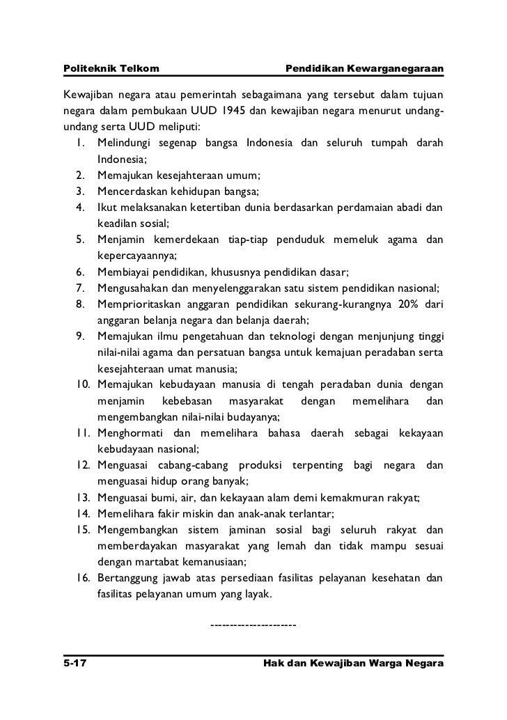 Bab 5 Hak Dan Kewajiban Warga Negara