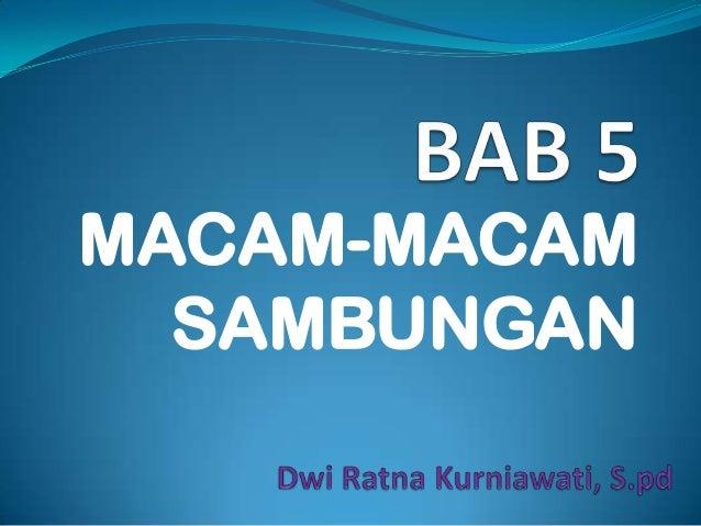 MACAM-MACAM SAMBUNGAN
