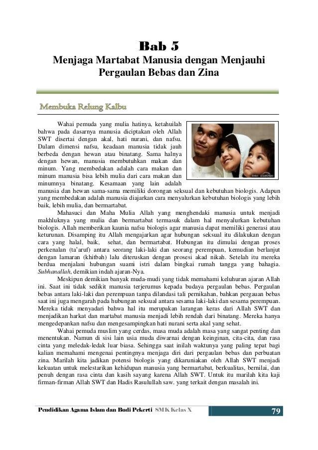 Pendidikan Agama Islam dan Budi Pekerti SMK Kelas X 79 Bab 5 Menjaga Martabat Manusia dengan Menjauhi Pergaulan Bebas dan ...