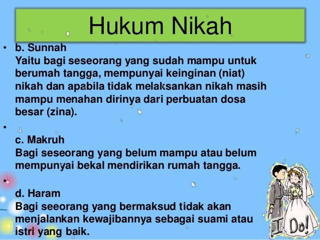 Tujuan dan Hikmah Pernikahan• Untuk memenuhi kebutuhan biologis manusia dengan cara yang  suci dan halal serta melestarika...