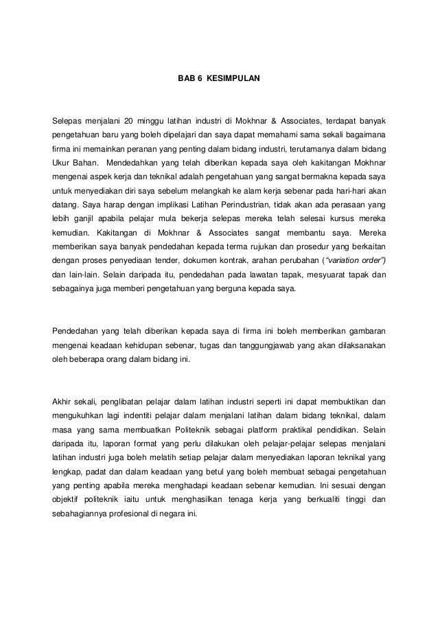 Kesimpulan Report Latihan Industri