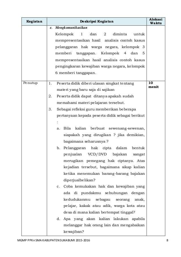 Bab 6 Rpp Ppkn Sma Kls Xi Menyibak Kasus Pelanggaran Hak Dan Penging