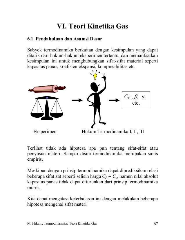 M. Hikam, Termodinamika: Teori Kinetika Gas 67VI. Teori Kinetika Gas6.1. Pendahuluan dan Asumsi DasarSubyek termodinamika ...
