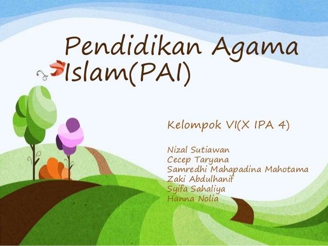 Pendidikan Agama Islam Ahlak Terhadap Orang Tua Dan Guru