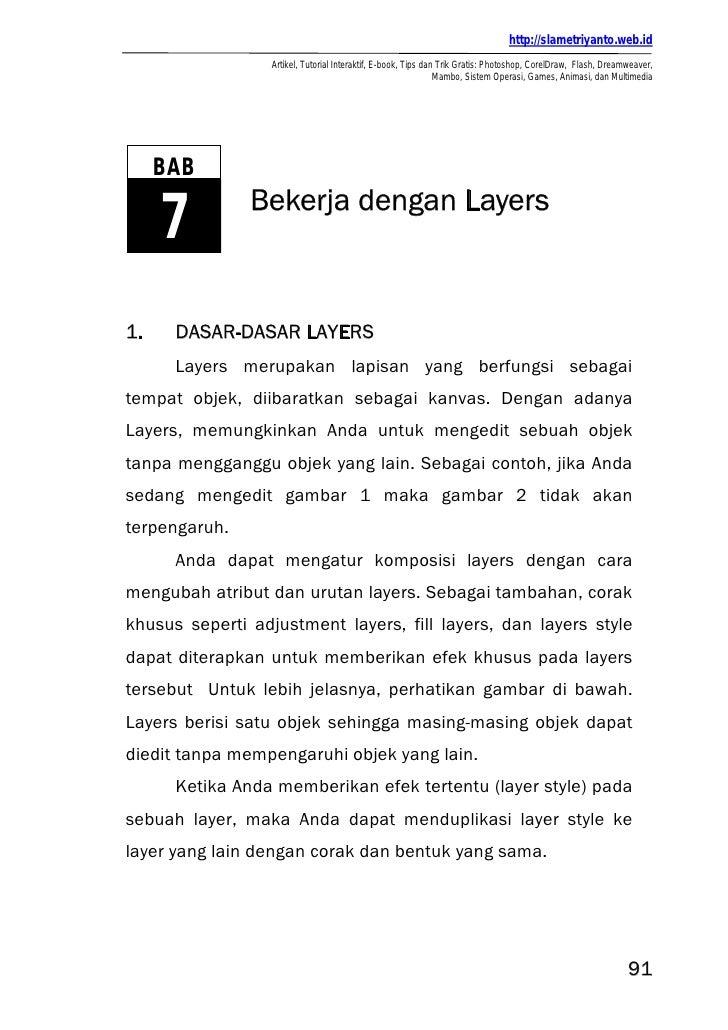 http://slametriyanto.web.id                  Artikel, Tutorial Interaktif, E-book, Tips dan Trik Gratis: Photoshop, CorelD...
