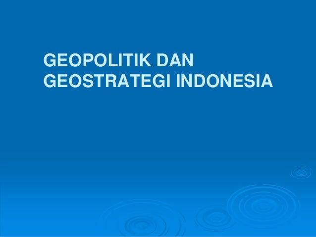 Bab 7 Geopolitik Dan Geostrategi