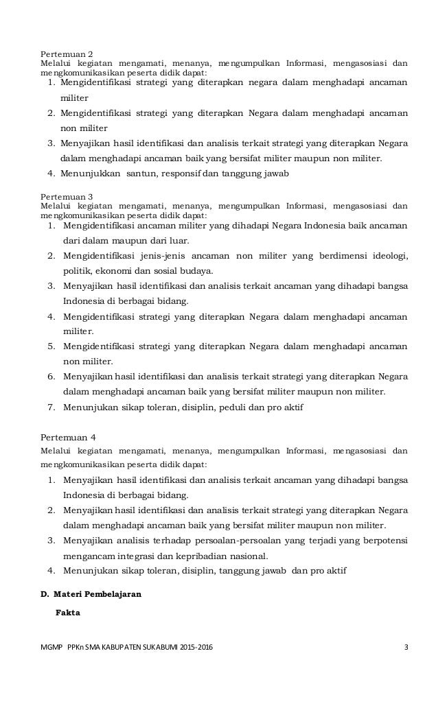 Bab 7 Rpp Ppkn Sma Kls Xi Menatap Tantangan Integrasi Nasional