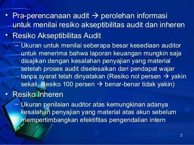 Perencanaan Audit dan Prosedur Analitis Slide 2