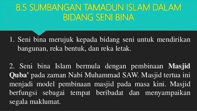 Bab 8 Tamadun Islam Dan Sumbangannya 2