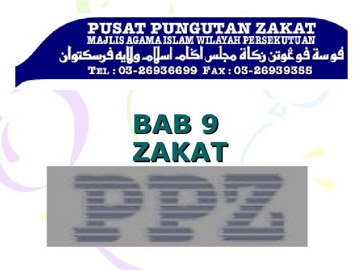 BAB 9  ZAKAT