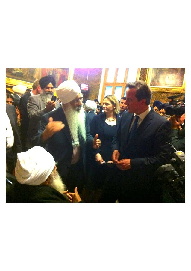Baba Iqbal Singh with British PM, David Cameron