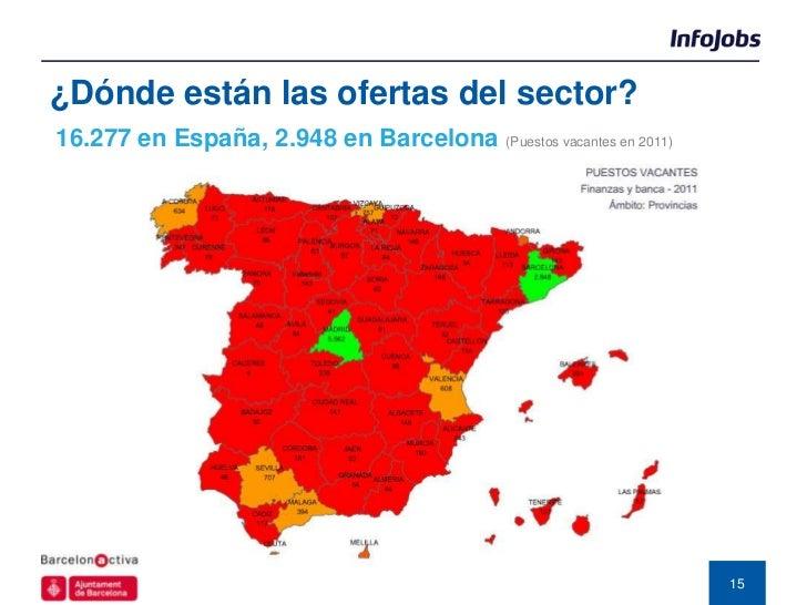 ¿Dónde están las ofertas del sector?16.277 en España, 2.948 en Barcelona (Puestos vacantes en 2011)                       ...