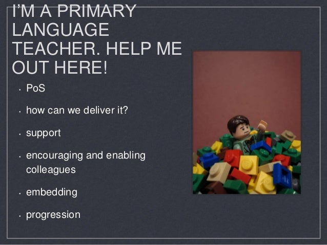 I'm a Primary Language Teacher - help me out here! Slide 3