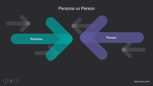 Babel Camp 201611 Persona vs Person Persona Person
