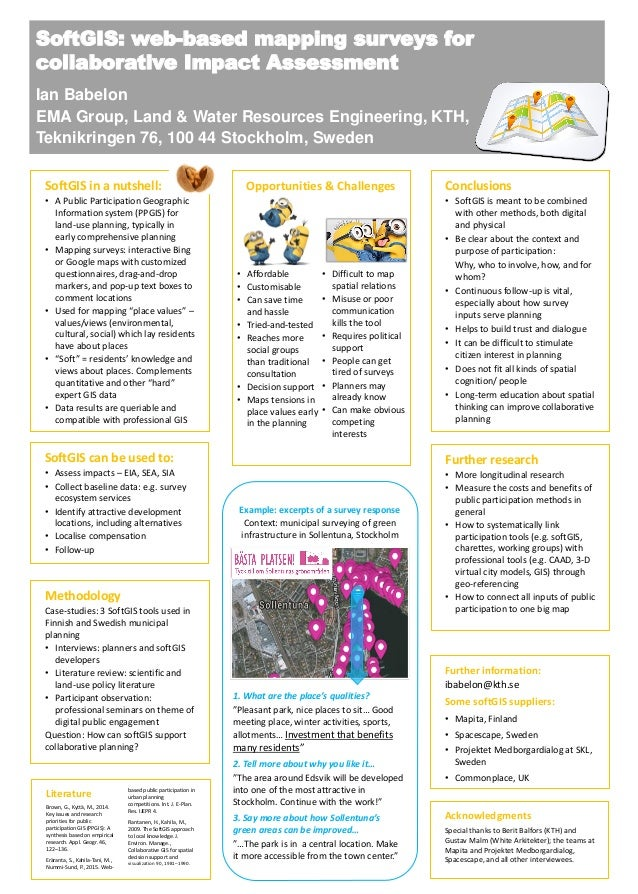 Literature Brown, G., Kyttä, M., 2014. Key issues and research priorities for public participation GIS (PPGIS): A synthesi...