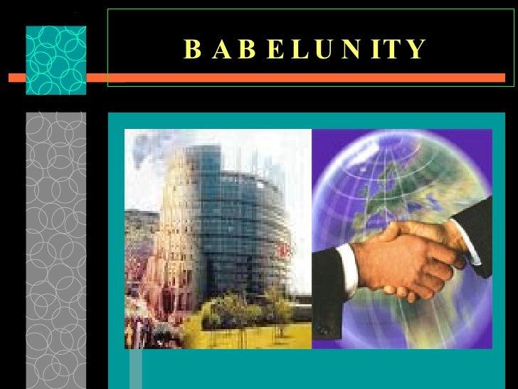 BABELUNITY