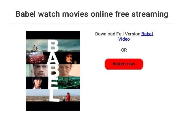Babel free online