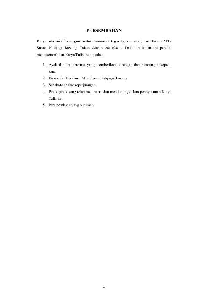 Contoh Laporan Study TOur II