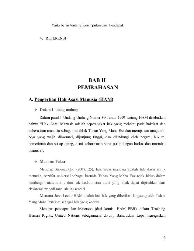 Contoh Makalah Hak Asasi Manusia Dan Rule Of Law Rasmi L