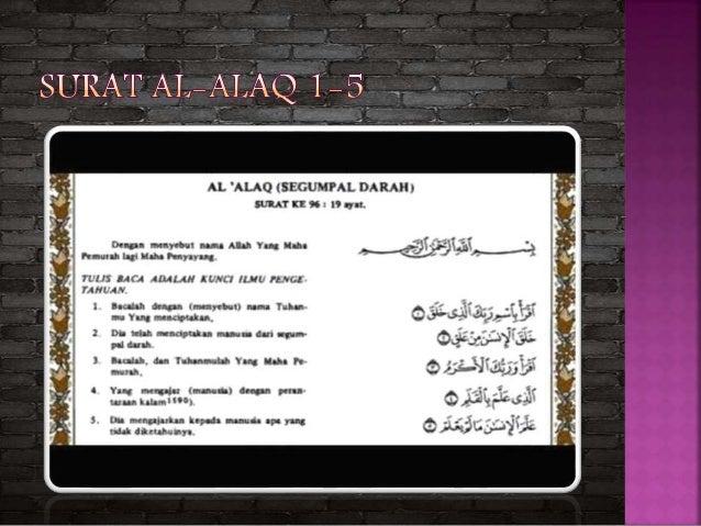 Arti dan isi kandungan surat Al-alaq ayat 2 َقَلَخِالاَسْنَنْنِمْقَلَع Artinya: Menjadikan manu...