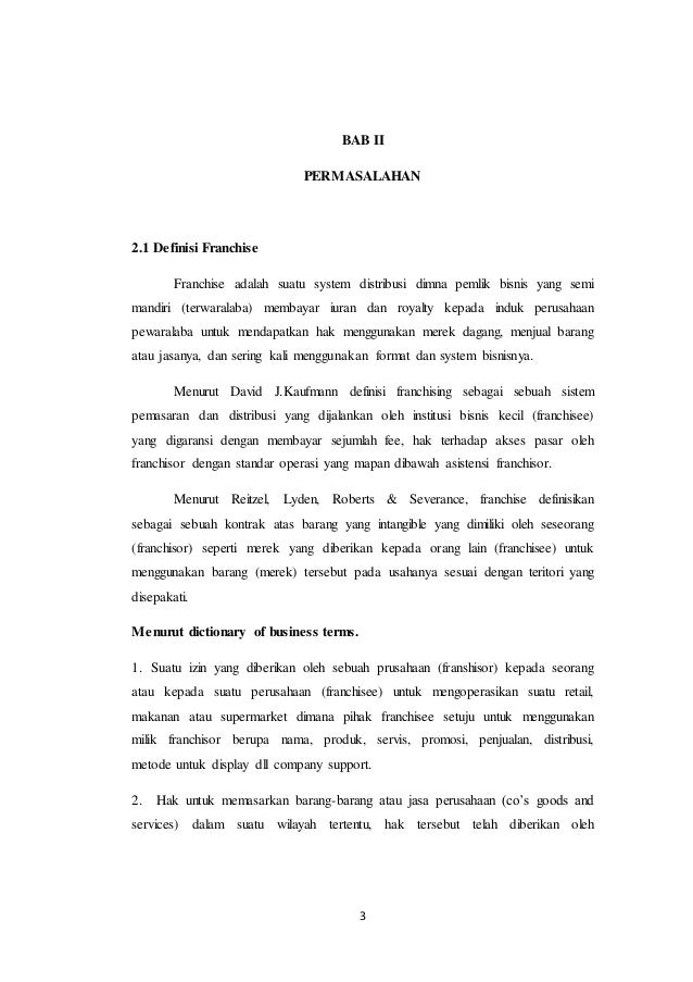 Pdf Makalah Waralaba Makanan Indomart Aminah Azahra Academia Edu