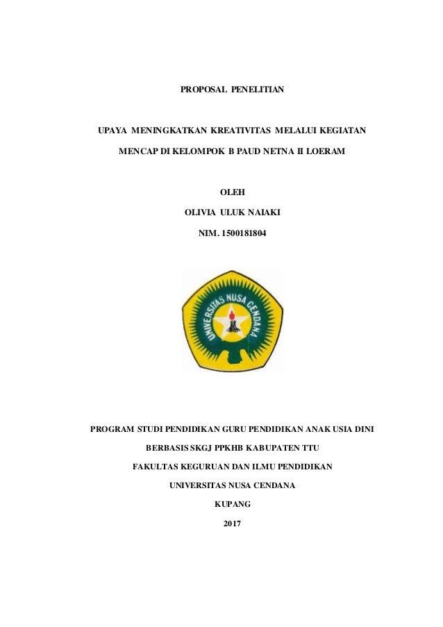 Contoh Proposal Skripsi Paud Kuantitatif Pdf