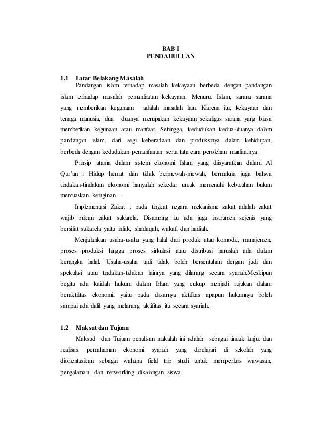 Makalah Tentang Prinsip Dan Praktik Ekonomi Dalam Islam