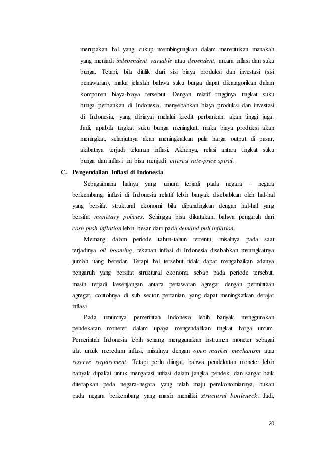 Makalah Inflasi Yang Terjadi Di Indonesia