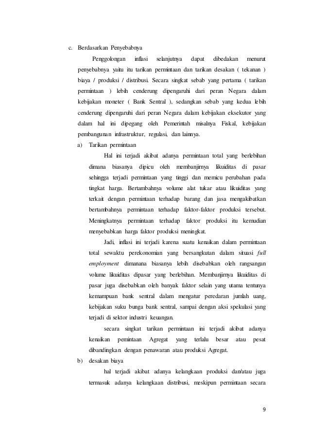"""Makalah """"Inflasi yang Terjadi di Indonesia"""""""