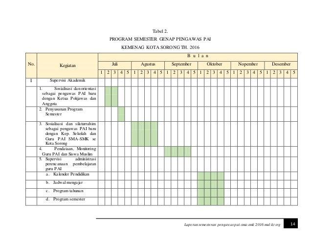 Program Pengawas 2016