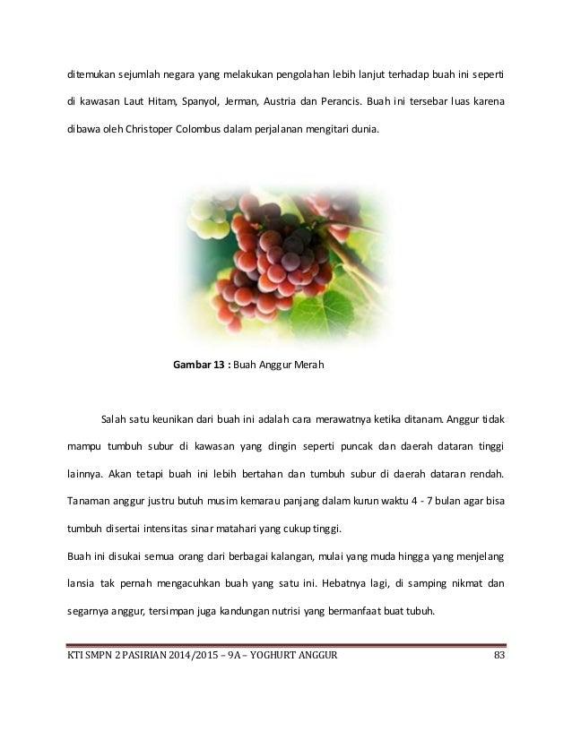 Isi Pembuatan Yoghurt Anggur
