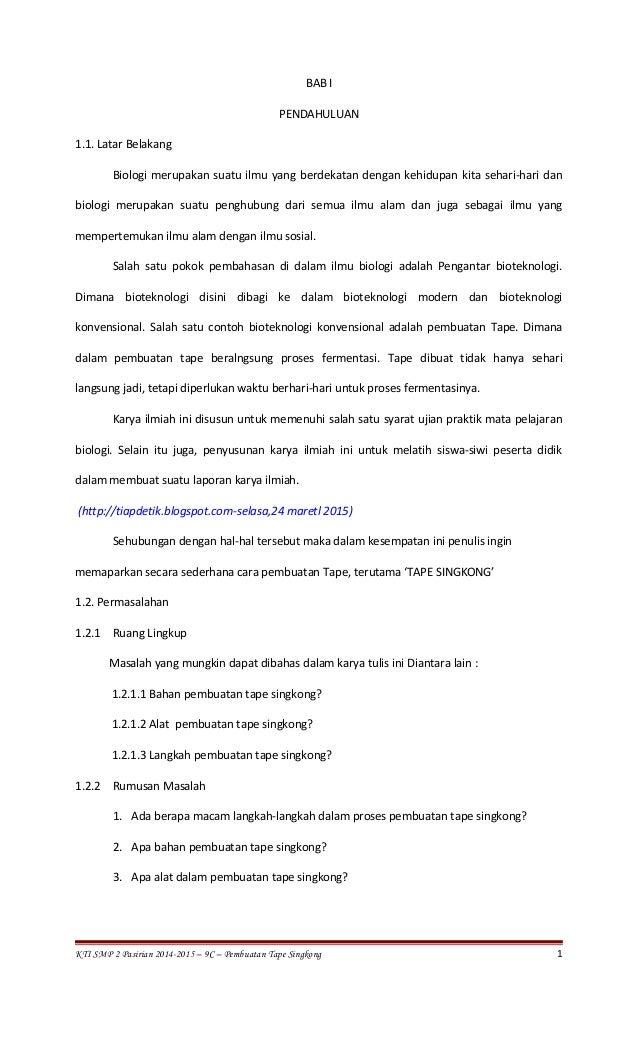 Bab I Iv Pembuatann Tape Singkong 9c