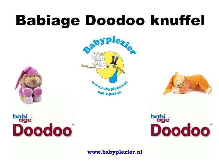 Babiage Doodoo knuffel        www.babyplezier.nl