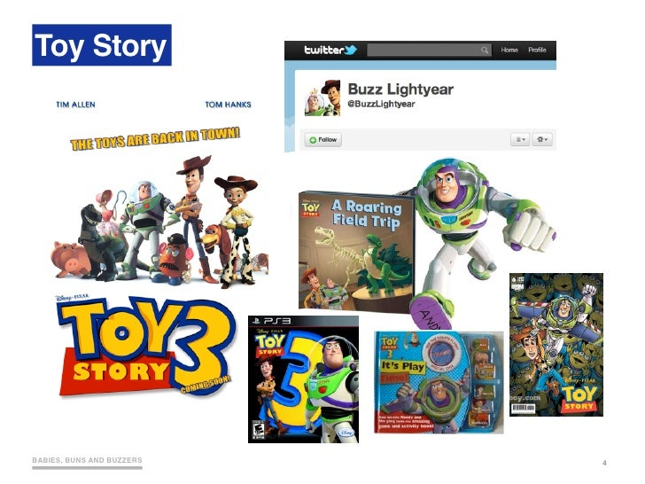 Toy Story     BABIES, BUNS AND BUZZERS   4