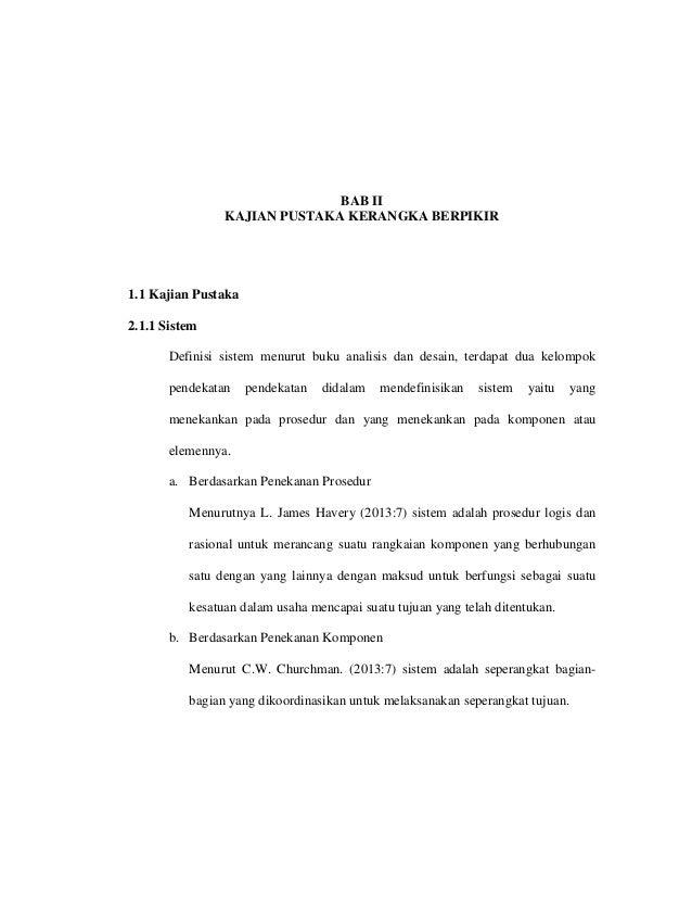 Bab ii bab ii kajian pustaka kerangka berpikir 11 kajian pustaka 211 sistem definisi sistem menurut ccuart Image collections
