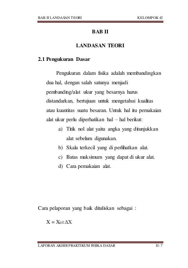 BAB II LANDASAN TEORI KELOMPOK 42 LAPORAN AKHIR PRAKTIKUM FISIKA DASAR II- 7 BAB II LANDASAN TEORI 2.1 Pengukuran Dasar Pe...