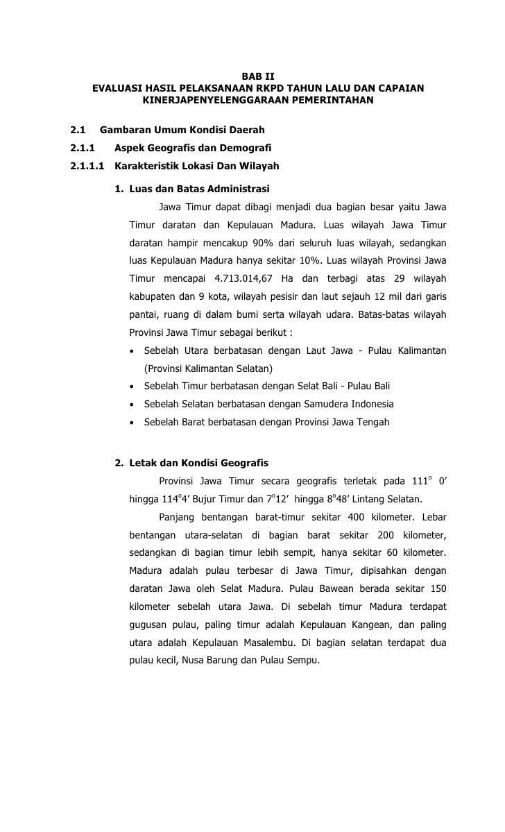 BAB II      EVALUASI HASIL PELAKSANAAN RKPD TAHUN LALU DAN CAPAIAN              KINERJAPENYELENGGARAAN PEMERINTAHAN2.1    ...