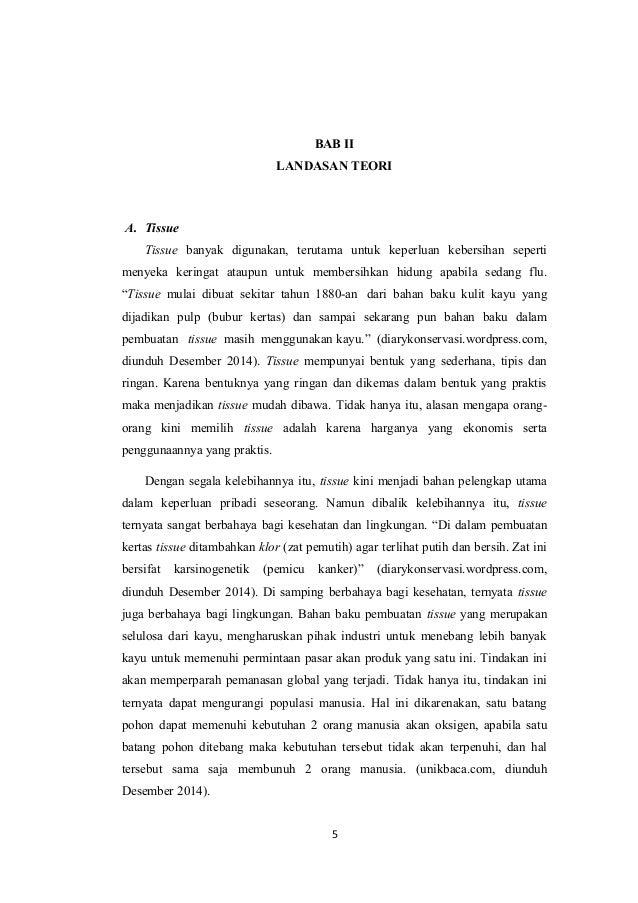Bab Ii Karya Tulis Ilmiah Tisu Berbahan Dasar Kulit Jeruk
