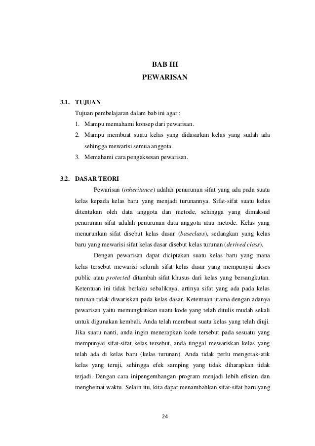 BAB III PEWARISAN  3.1. TUJUAN Tujuan pembelajaran dalam bab ini agar : 1. Mampu memahami konsep dari pewarisan. 2. Mampu ...